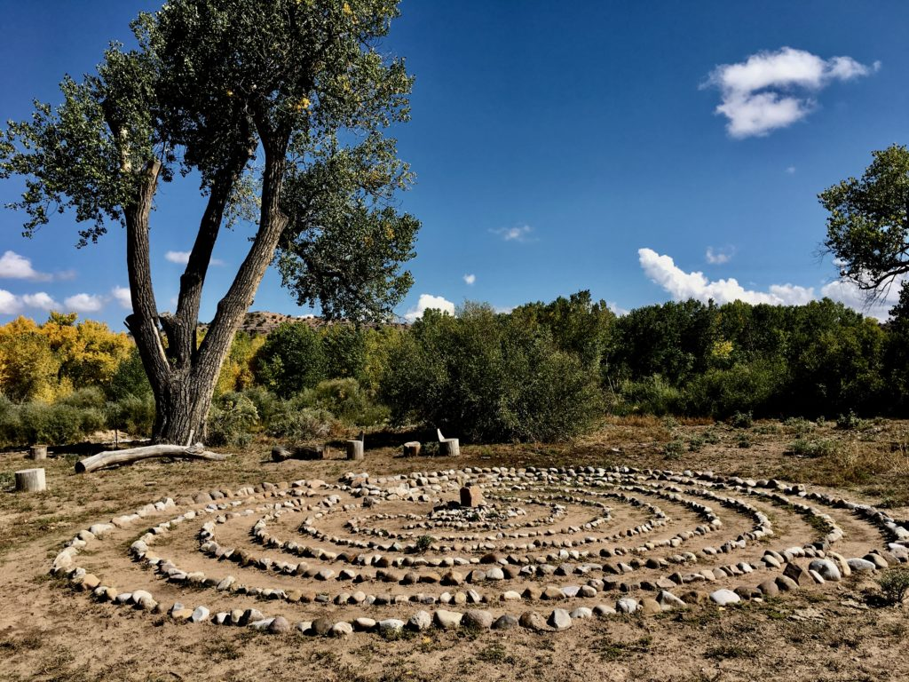 Legendary Healing Waters of Ojo Caliente labyrinth by river