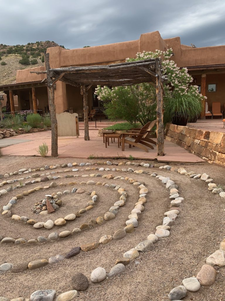 Legendary Healing Waters of Ojo Caliente labyrinth by lobby