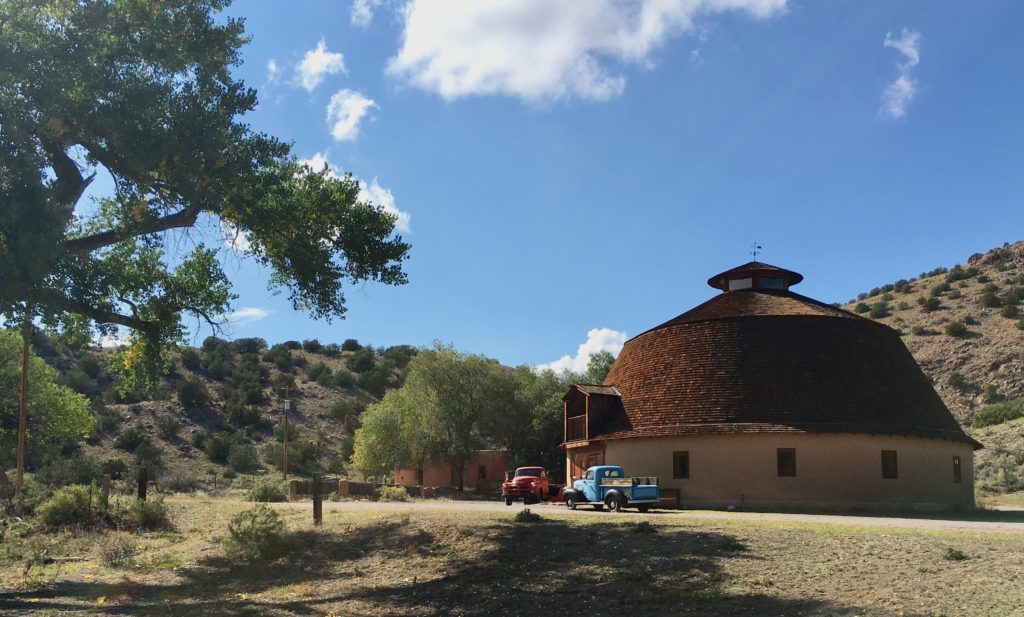 Legendary Healing Waters of Ojo Caliente historic round barn
